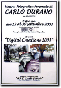 2003 - Personal exhibition in the city of Grosseto
